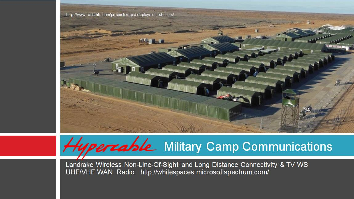 TV WS radio- military camp